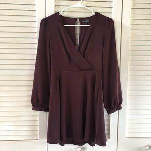 NEW Express wrap dress XXS Petite silky